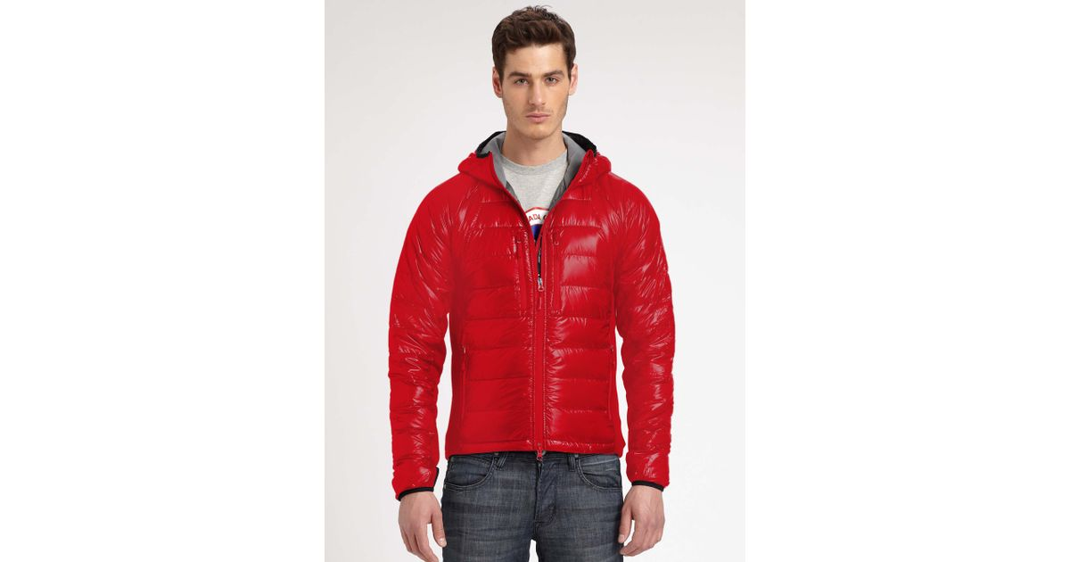 Canada Goose chateau parka sale 2016 - Canada goose Hybridge Lite Hoodie in Red for Men | Lyst