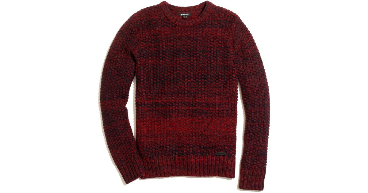 Madewell Barbourreg Danby Marled Sweater in Red   Lyst
