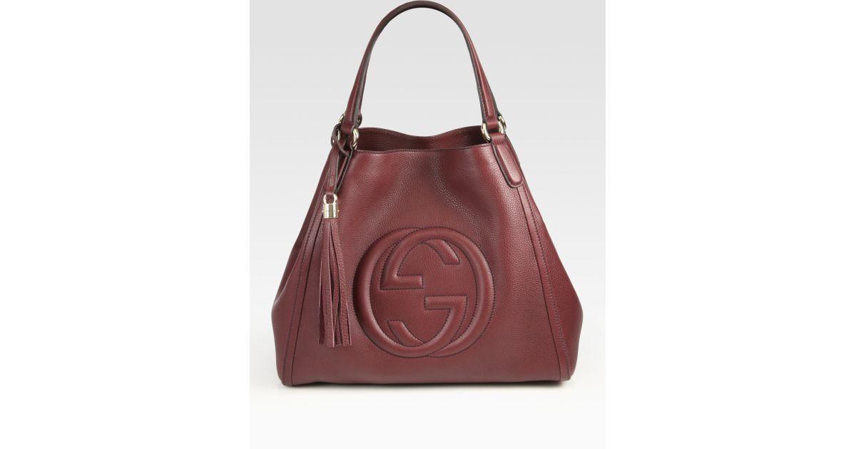 197599e3575 Lyst - Gucci Soho Medium Shoulder Bag in Brown