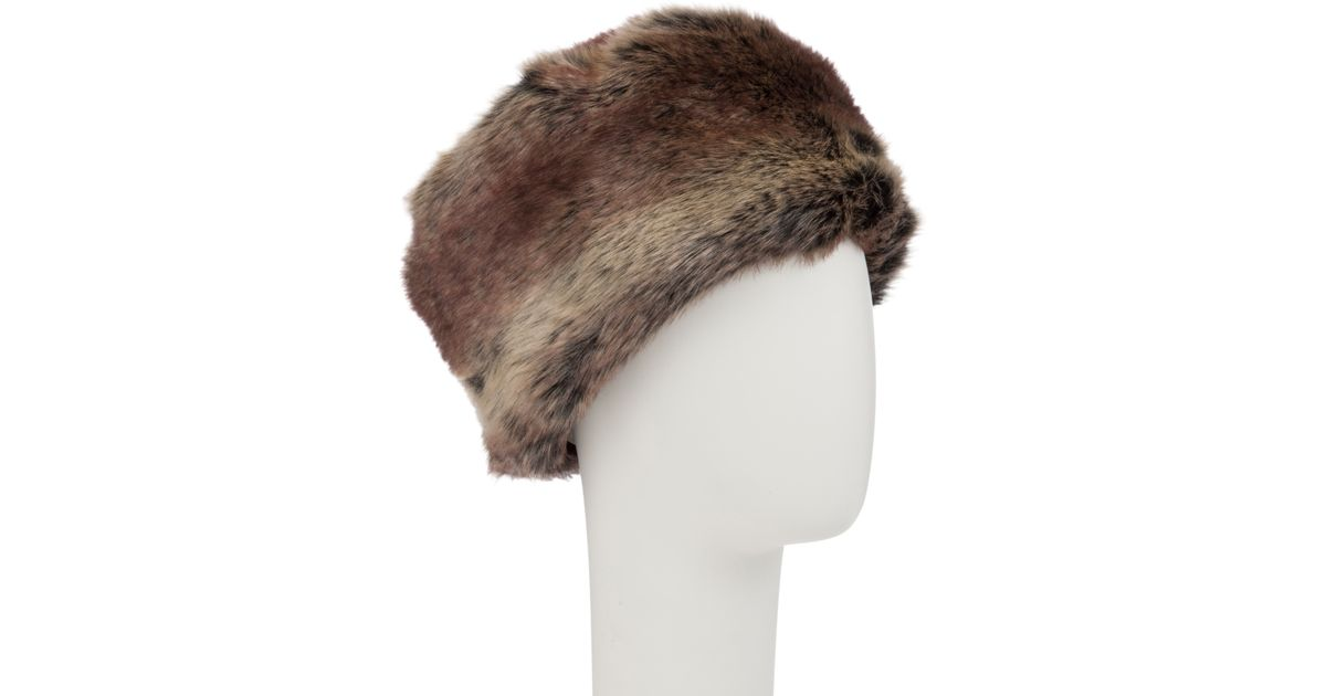 3ad7a7fe33eba John Lewis Faux Fur Cossack Hat in Natural - Lyst