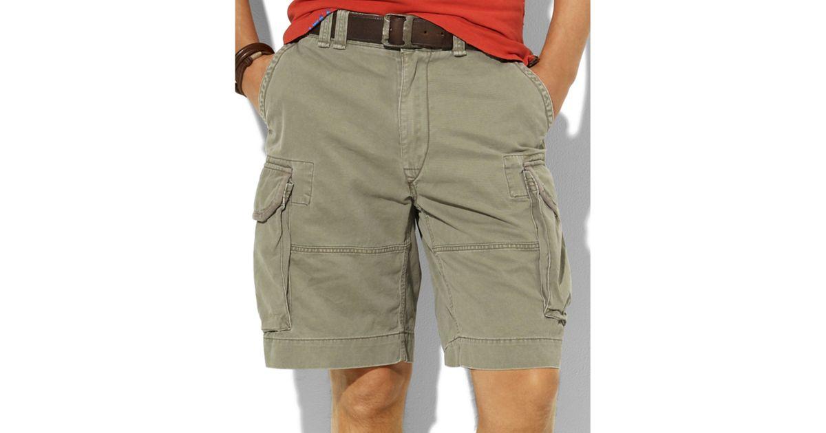 62fae7839 ... low cost lyst ralph lauren gellar fatigue vintage chino shorts in green  for men 7ff7d 56938