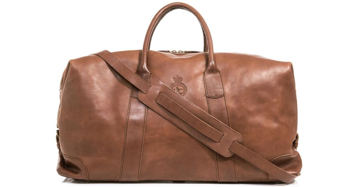 9ebdcf3f66 ... store lyst polo ralph lauren leather weekender bag in brown for men  bb9fa dd29a