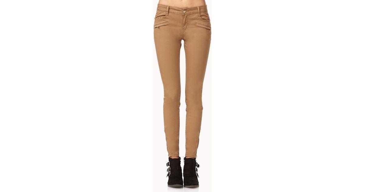 Tan skinny jeans forever 21