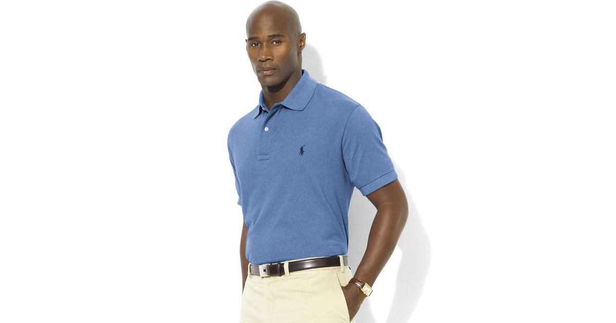Ralph lauren Classic-fit Short-sleeve Cotton Mesh Polo in Blue for Men | Lyst