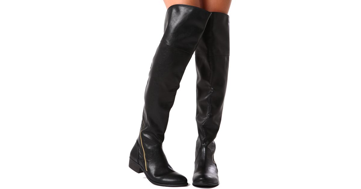 f4953e9ed74 Lyst - Report Gwyn Over The Knee Boot in Black