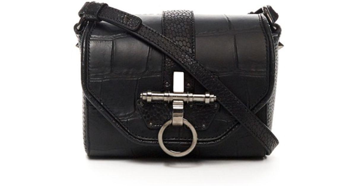 c6384b13b8 Lyst - Givenchy Obsedia Small Cross-body Bag in Black