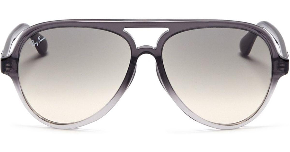 f5c0e56388 Ray-Ban Graduated Plastic Aviator Sunglasses in Gray for Men - Lyst