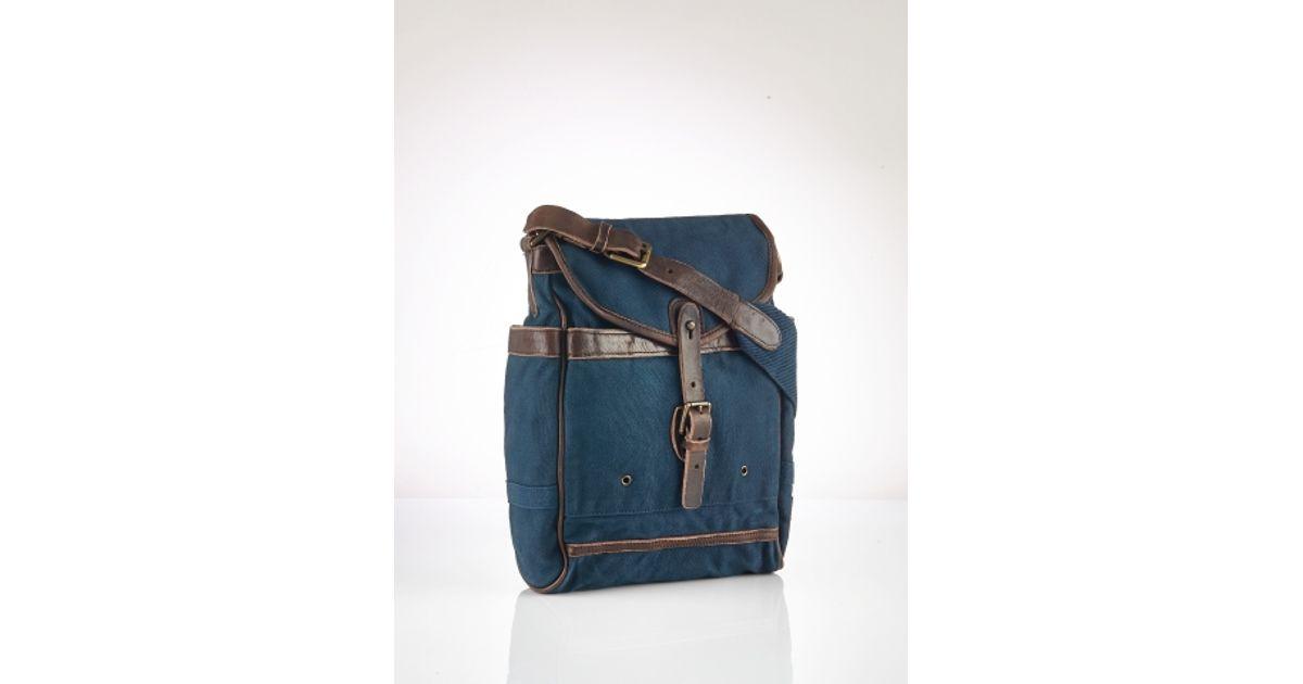 c58e83b729 ... coupon code for polo ralph lauren canvas messenger bag in blue for men  lyst 847c4 f2bd4 ...