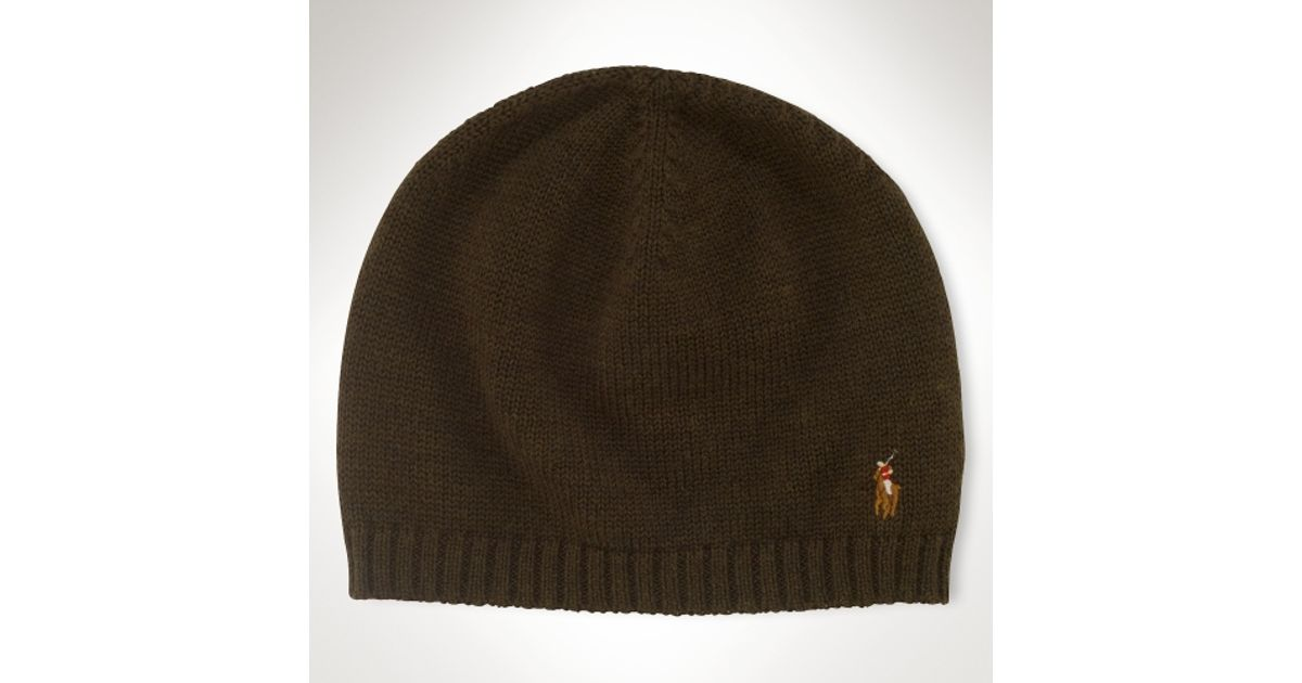 86962a9344a Lyst - Polo Ralph Lauren Classic Merino Watch Cap in Brown for Men
