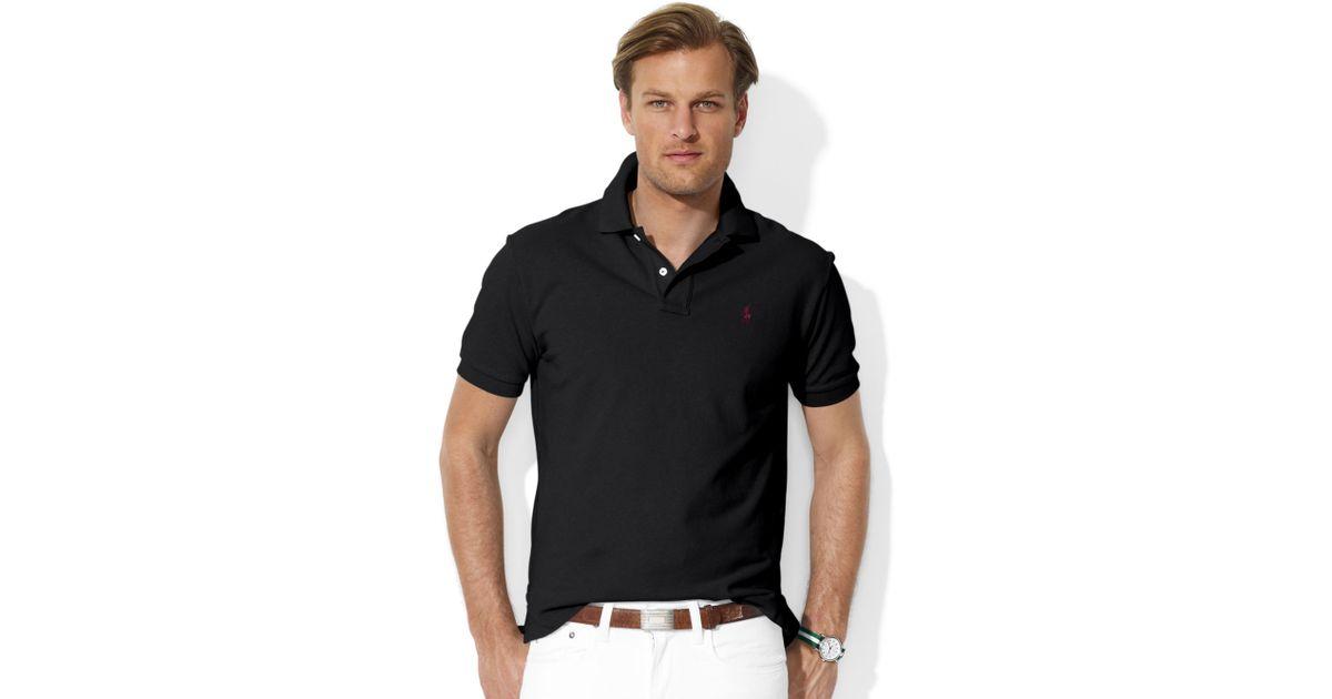 Ralph lauren Classic-fit Short-sleeve Cotton Mesh Polo in Black for Men | Lyst