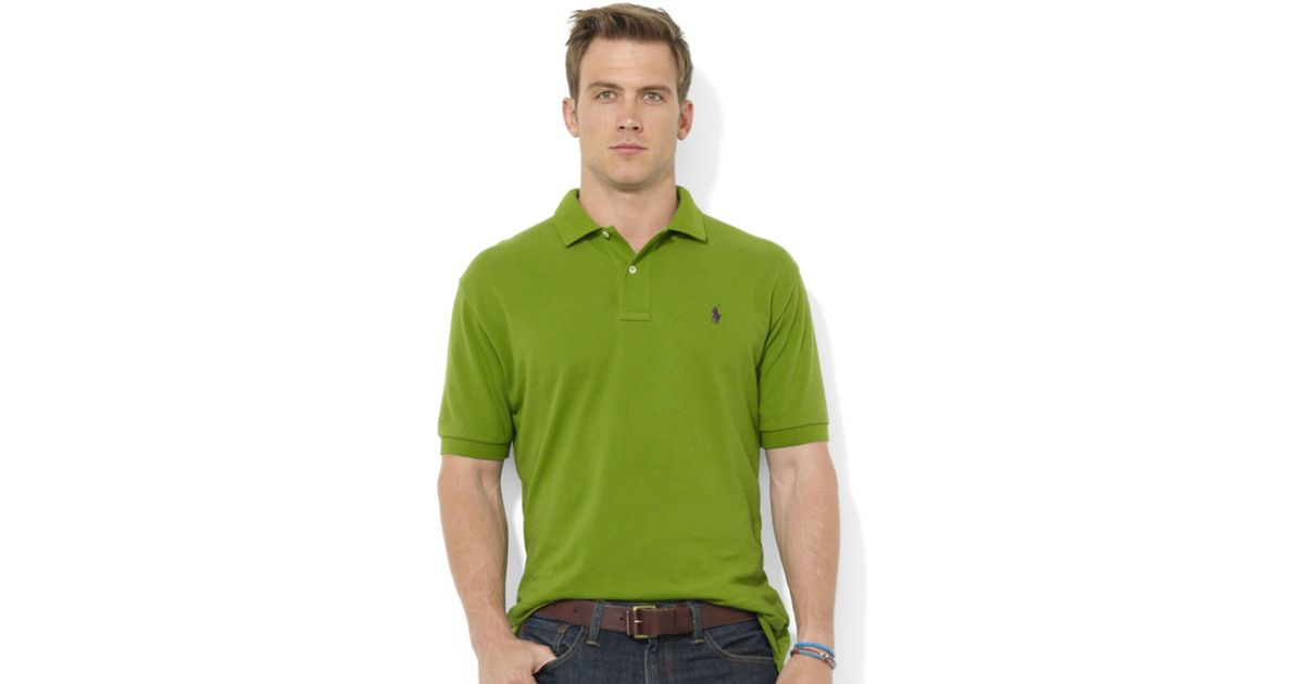 Ralph lauren Classicfit Shortsleeve Cotton Mesh Polo in Green for Men (Foliage Green) |