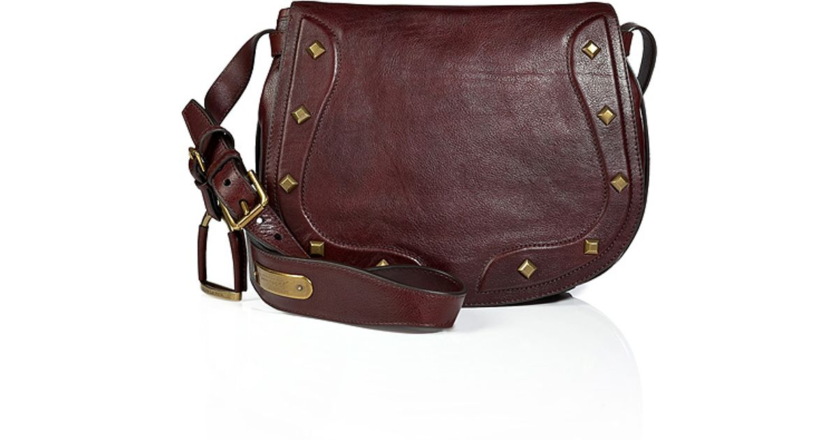 b1dd6998c169 Lyst - Ralph Lauren Collection Vintage Leather Saddle Bag in Antique Brown  in Brown
