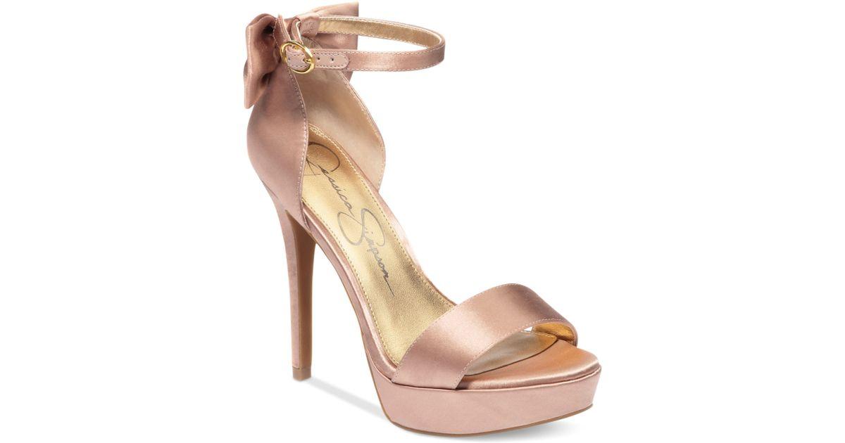 c2282fd6346c Lyst - Jessica Simpson Bowie Platform Dress Sandals in Pink