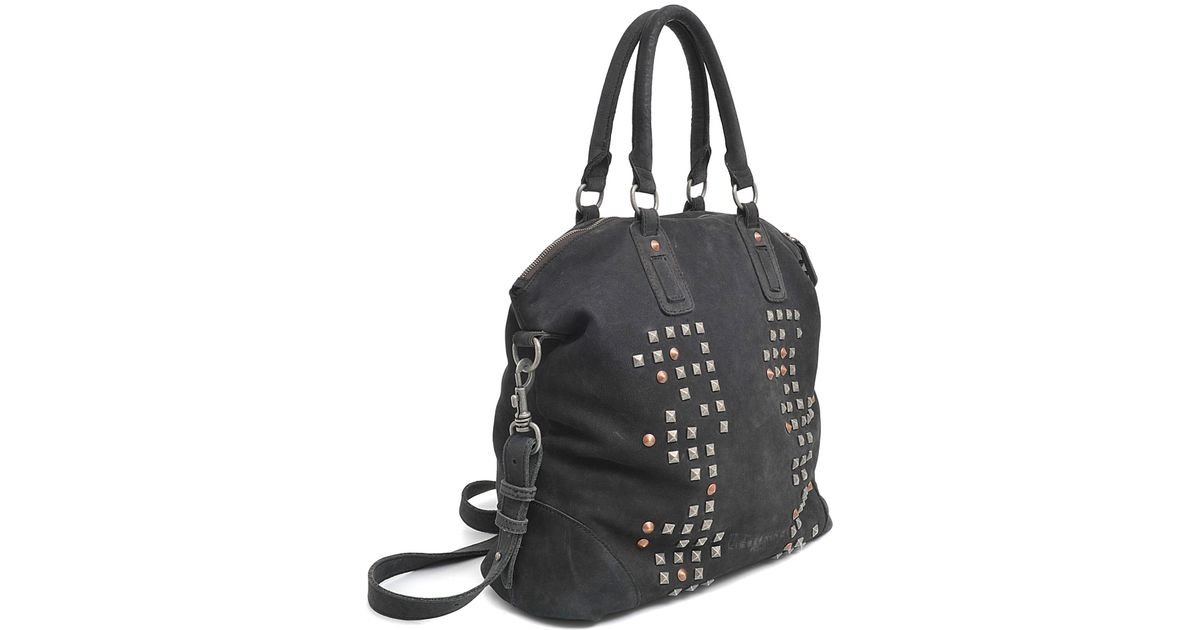 Liebeskind Fergie Waxy Nubuck Bag in Black - Lyst 3092919f43a