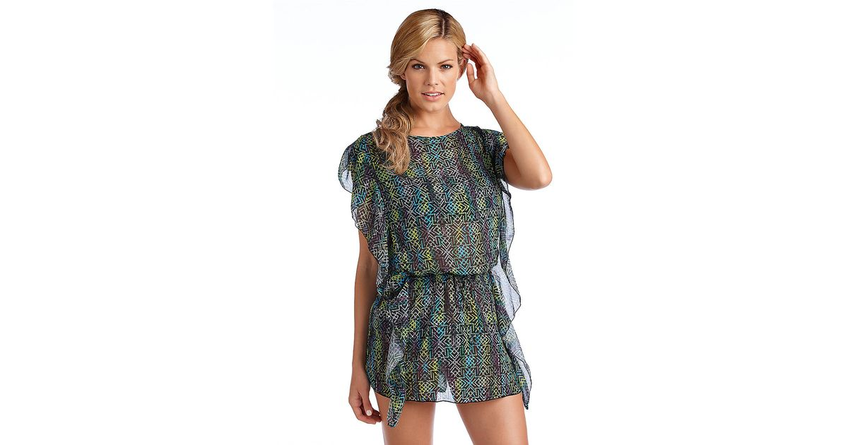 cbc7e29a69ea4 Lyst - Jessica Simpson Hiawatha Swim Cover Up in Green