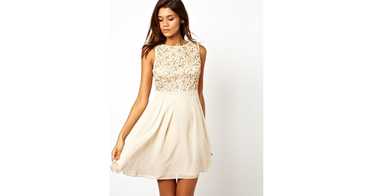 Lyst - Little Mistress Little Mistress Babydoll Prom Dress with ...