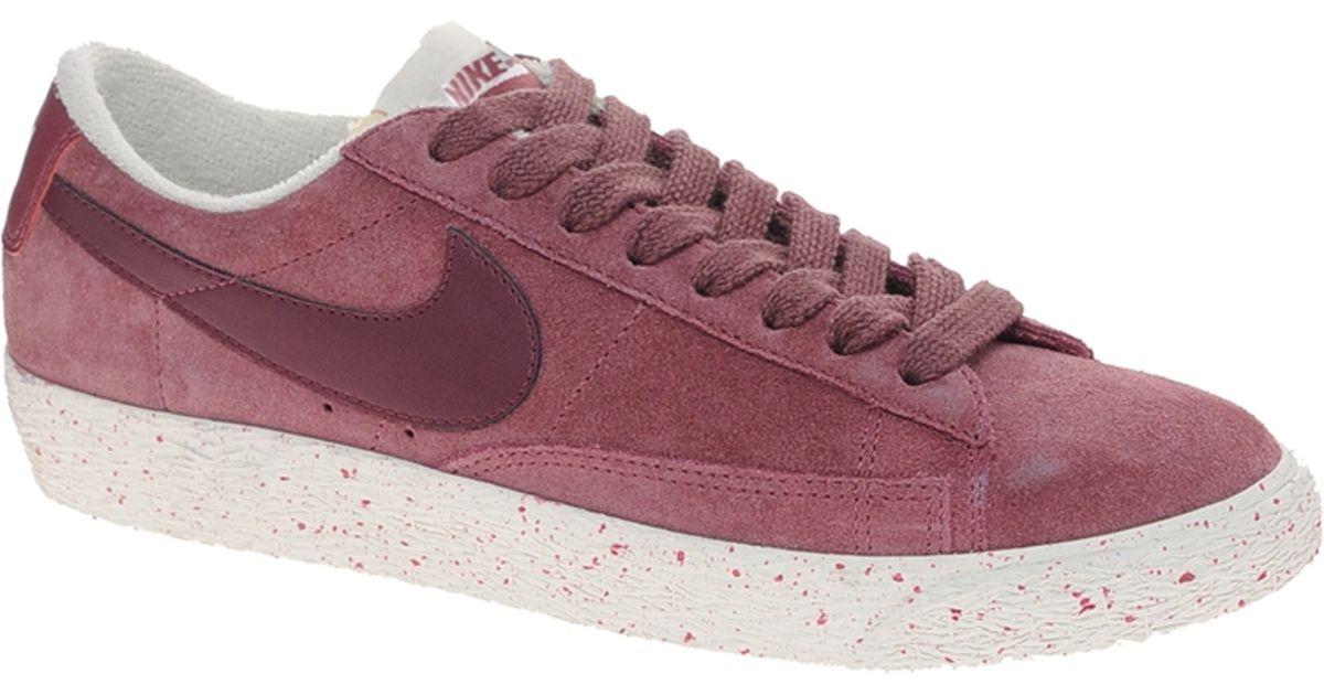 promo code 80fd8 4ade2 woman nike blazer low black n red wine burgundy shoes n45l5908