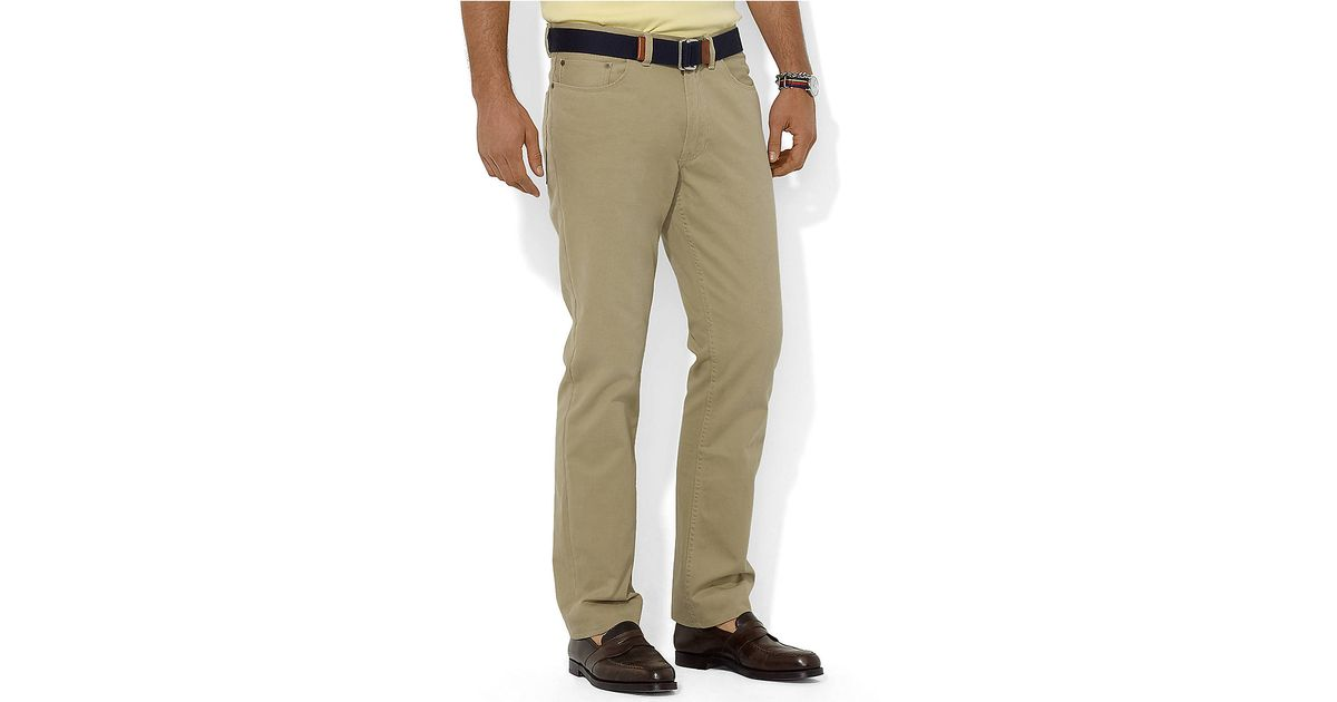 ce6e6908c210 Polo Ralph Lauren Straight 5 Pocket Preppy Chino in Natural for Men - Lyst