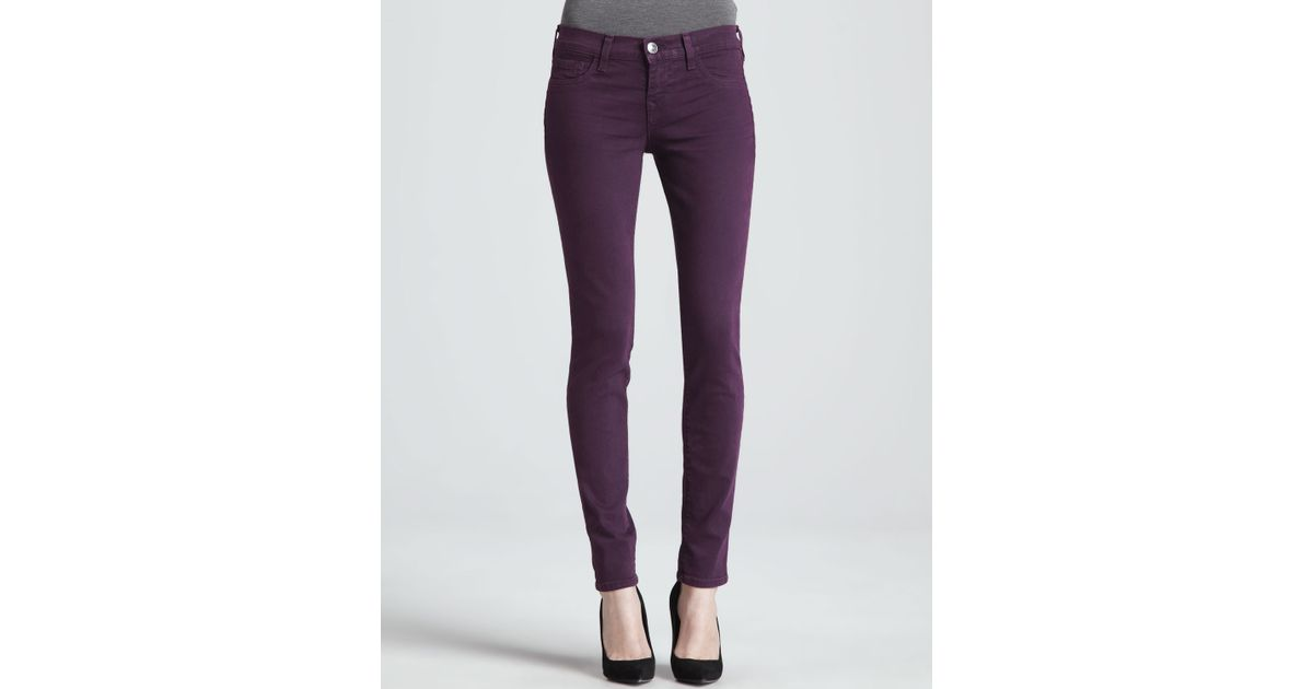 0ae1df63d7b7 Lyst - True Religion Halle Plum Stretch Skinny Jeans in Purple