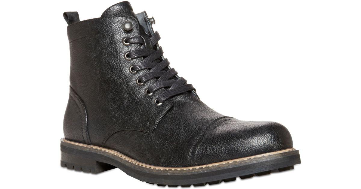 aa61c1458 Lyst - Steve Madden Ignite Captoe Boots in Black for Men