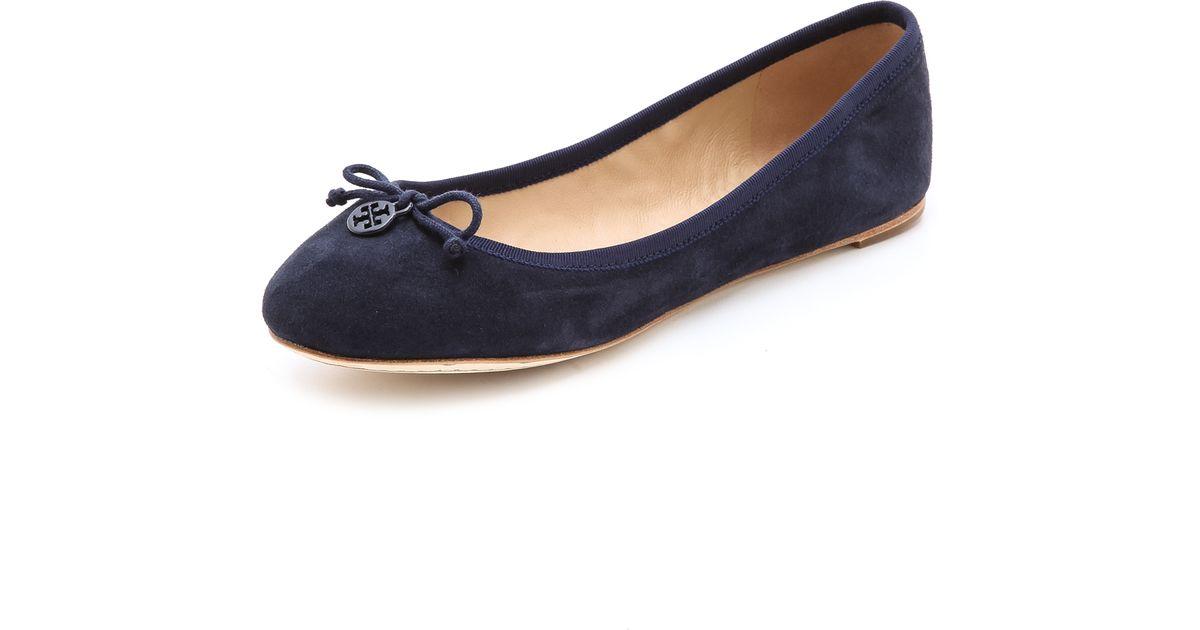 4d64c89fe74 Lyst - Tory Burch Chelsea Ballet Flats in Blue