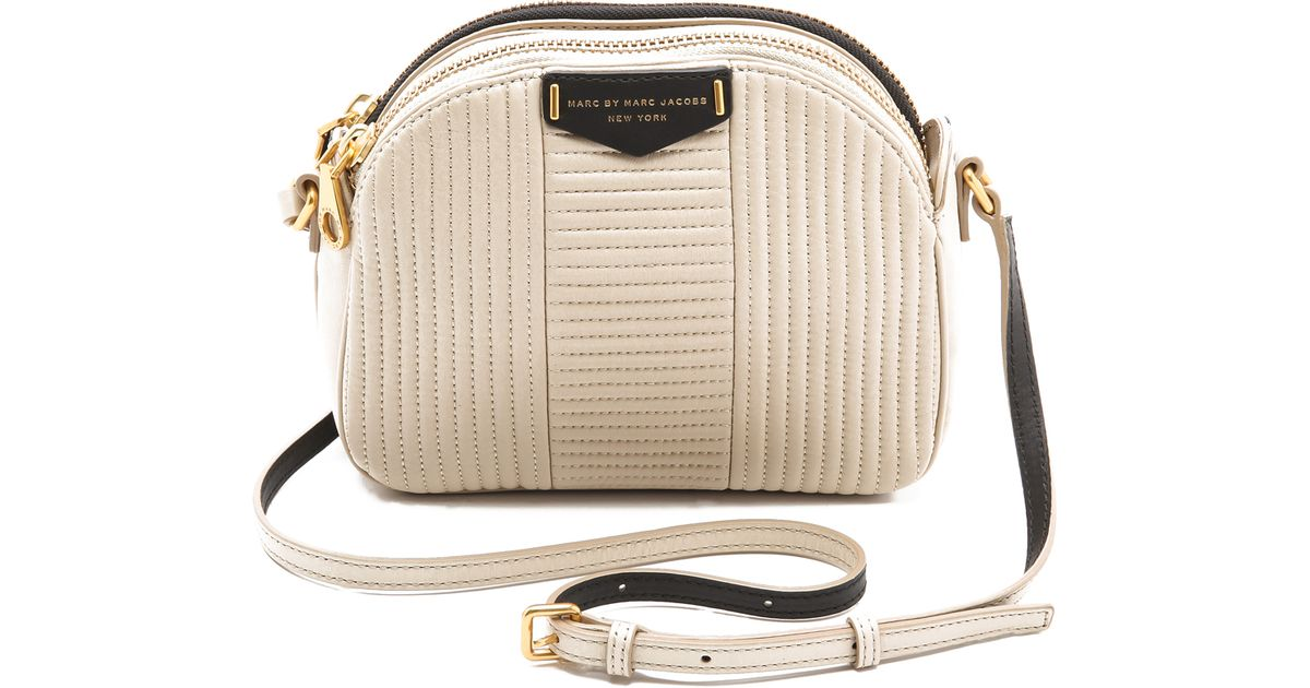 657fabb7b93a Lyst - Marc By Marc Jacobs Downtown Lola Colorblock Cross Body Bag in  Natural