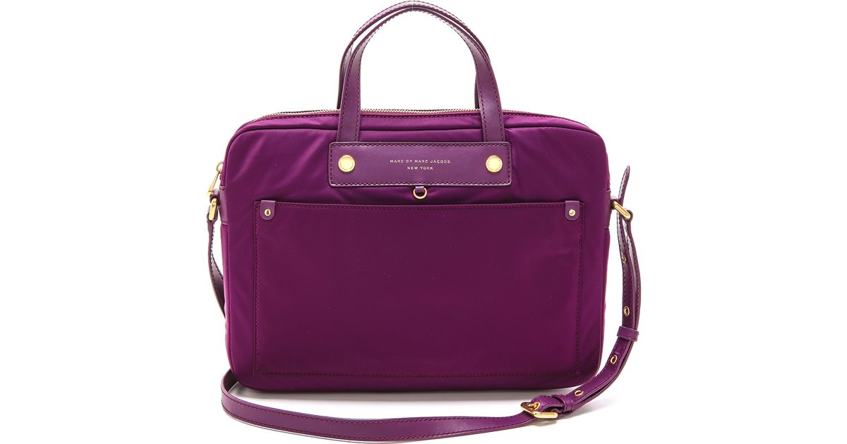 3a3b9e38dd10 Lyst - Marc By Marc Jacobs Preppy Nylon 13 Commuter Computer Bag in Purple