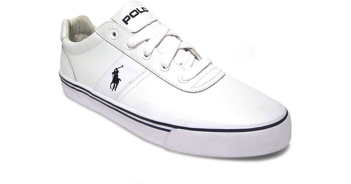 fa024dabe9e Polo Ralph Lauren Hanford White Leather in White for Men - Lyst