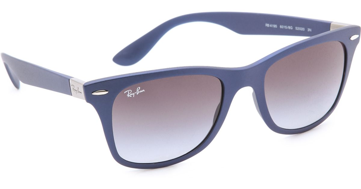 514fff8285 Lyst - Ray-Ban Light Force Matte Wayfarer Sunglasses in Blue