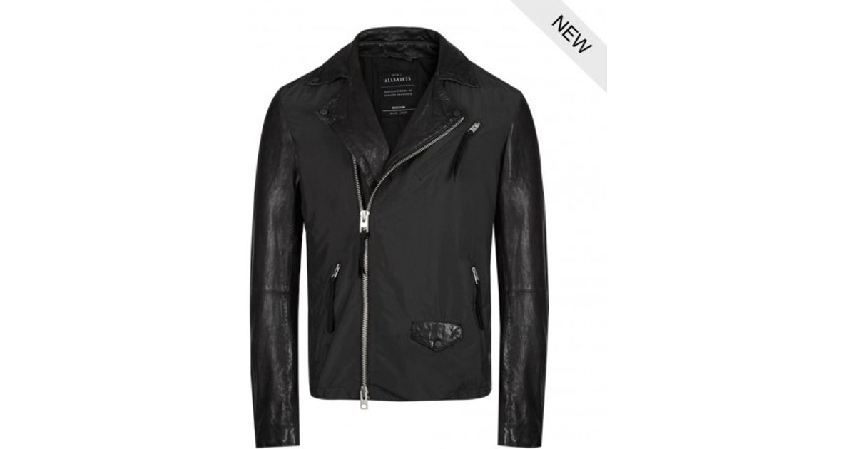 Lyst Allsaints Lorent Leather Biker Jacket In Black For Men