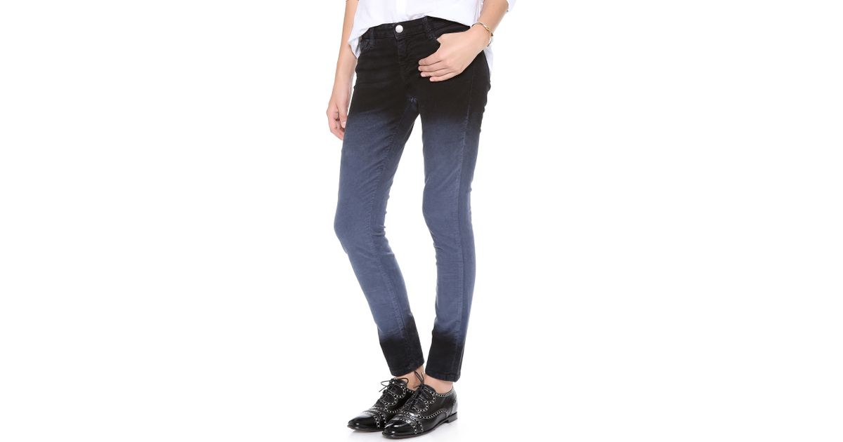 Each x other Alessandra Durso Skinny Deep Dye Corduroy Pants in ...