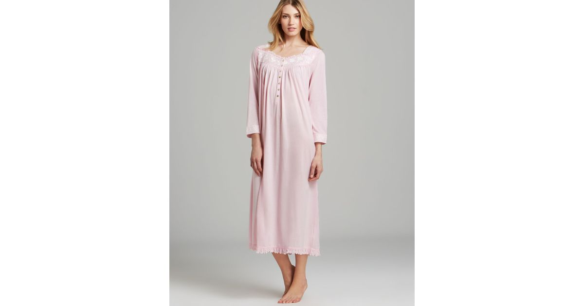 Lyst - Eileen West Blissful Poetry Long Sleeve Ballet Nightgown in Pink 87e86d099