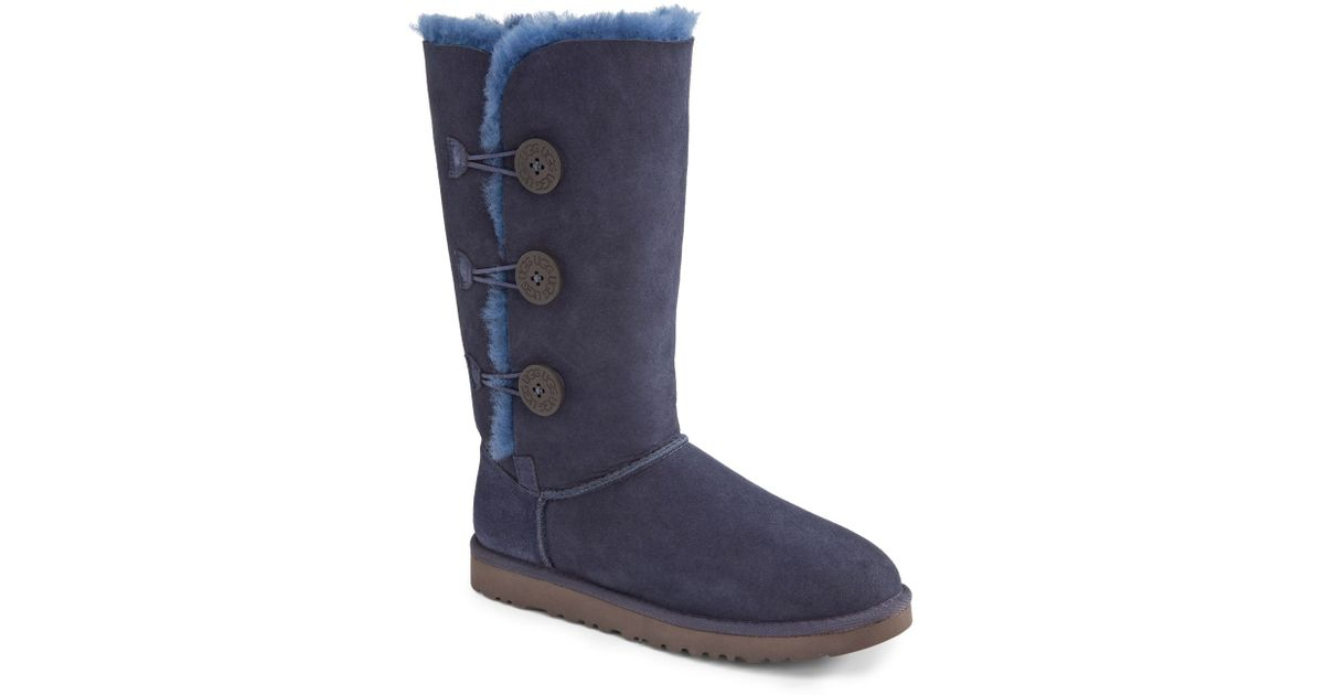 ugg australia bailey button triplet navy womens boots