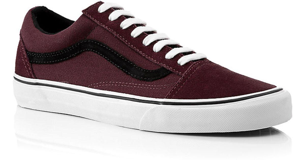 dd41d08d90d4 Vans Old Skool Shoes in Burgundy in Purple for Men - Lyst