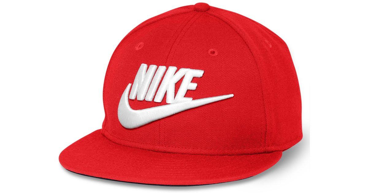 3f27efcfe79 Lyst - Nike Futura True Snapback Cap in Red for Men