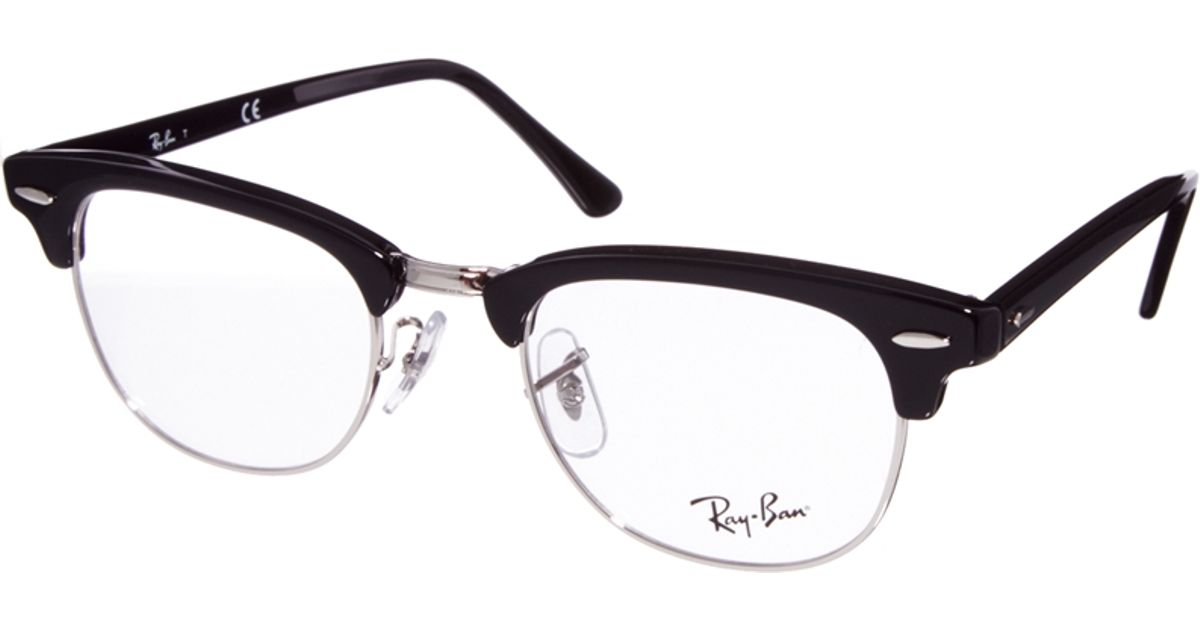 ac8372cb828 Lyst - Ray-Ban Clubmaster Glasses in Black