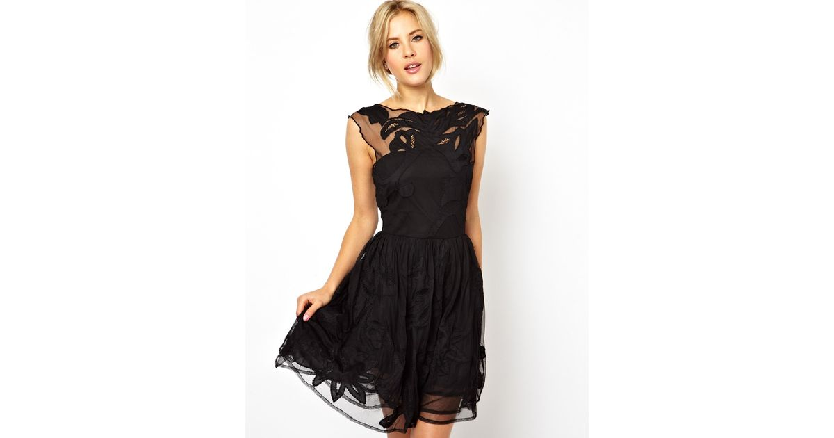 Lyst - Asos Gothic Prom Dress in Black