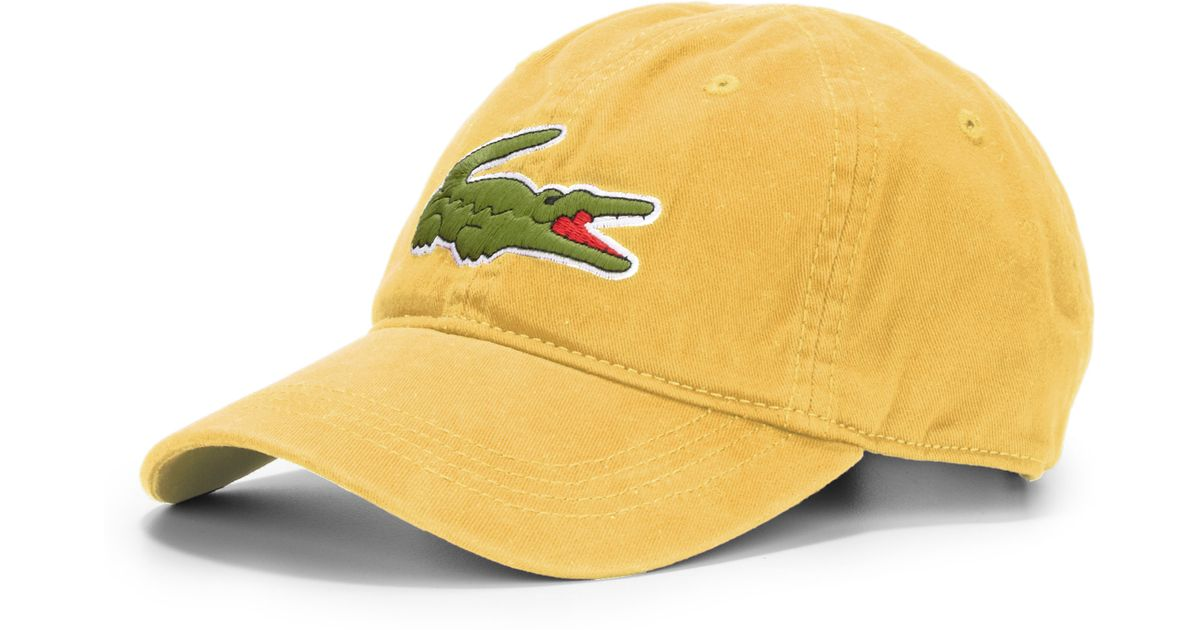 028843441c0 Lyst - Lacoste Cotton Baseball Cap in Yellow for Men