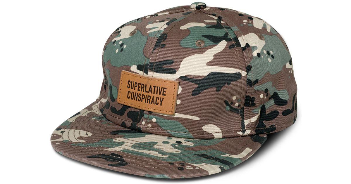 ee4d1206d1 Lyst - Wesc Camo Snapback Hat in Green for Men