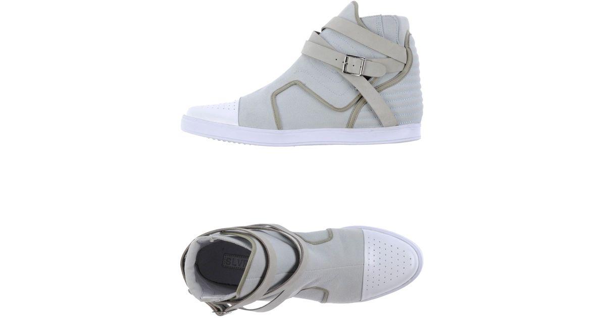 a64f328d6 Lyst - Adidas SLVR Hightops in Gray