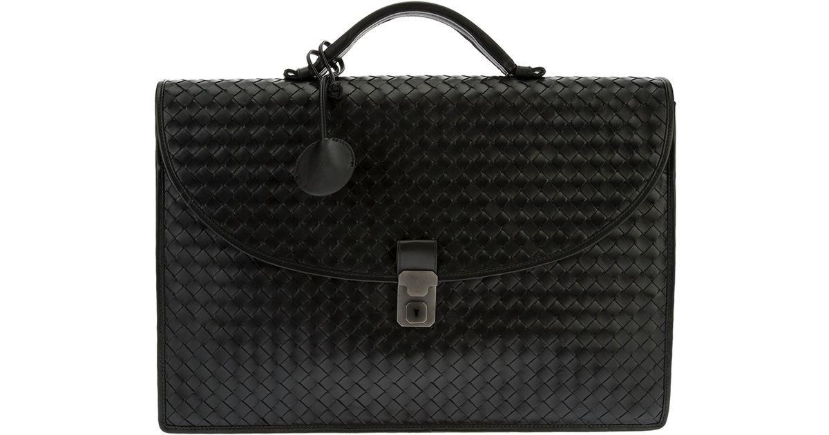 d99ca3aadb Lyst - Bottega Veneta Classic Briefcase in Black for Men