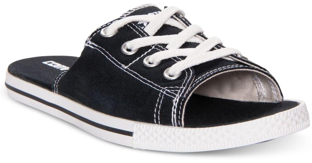 76a460421f07 Lyst - Converse All Star Cutaway Evo Slide Sandals in Black