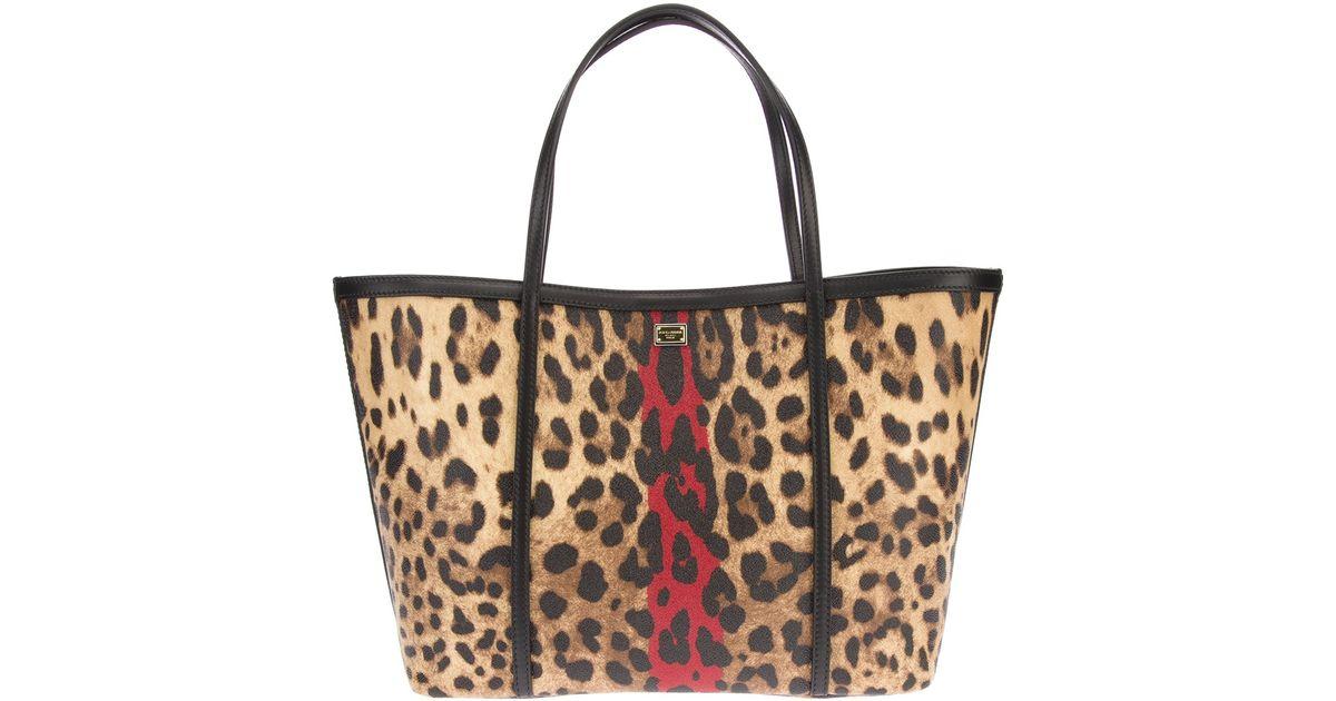 398a9727122f Lyst - Dolce   Gabbana Leopard Tote Bag in Brown