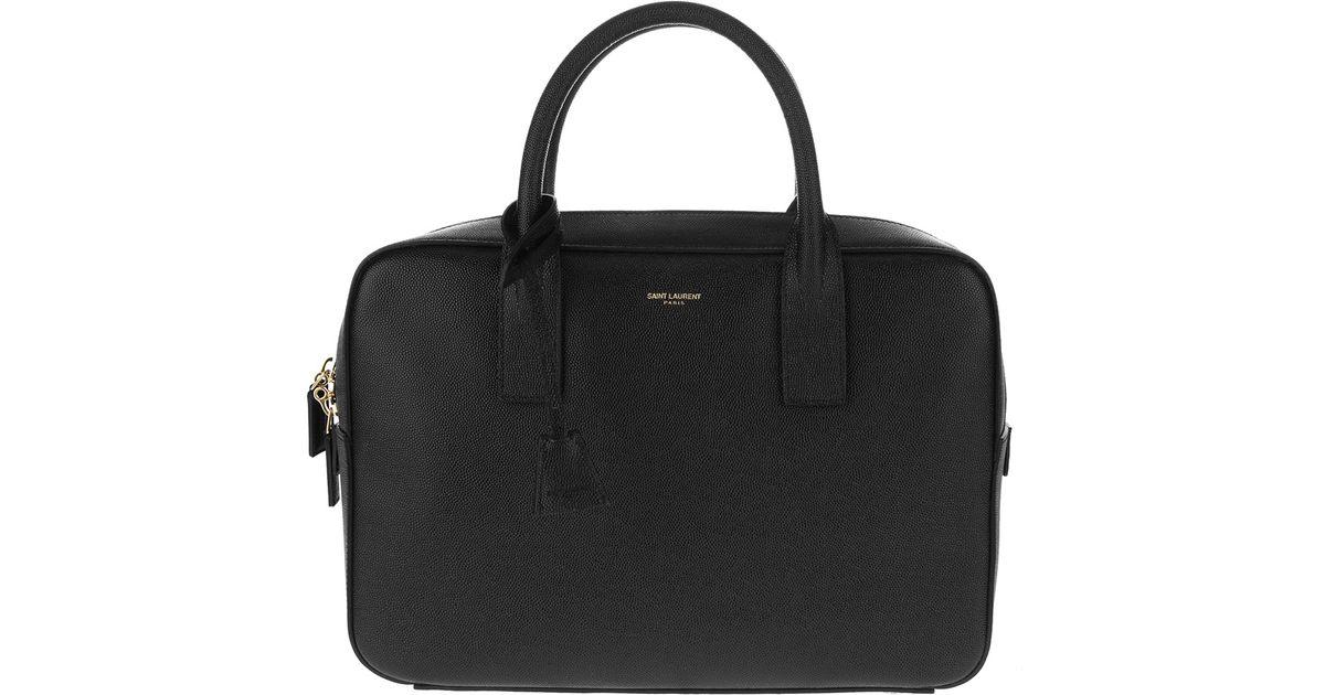 16a8ae7c8656 Lyst - Saint Laurent Classic Duffle 6 Bag in Black