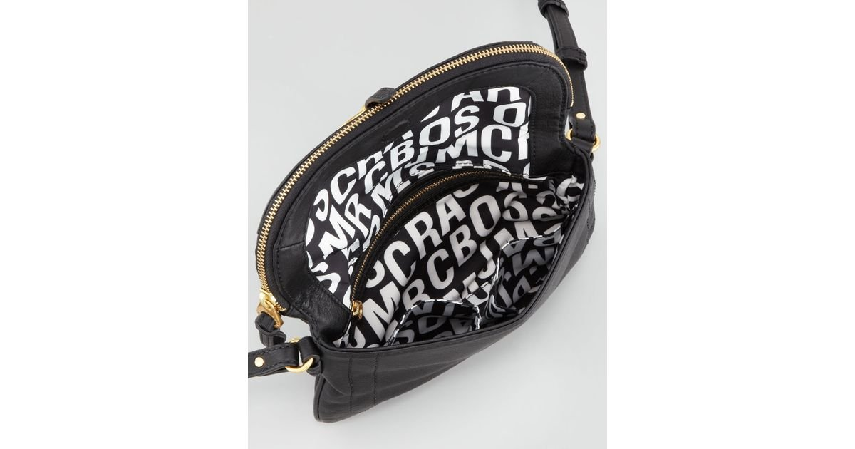 4413fbc32c7b Lyst - Marc By Marc Jacobs Petal To The Metal Percy Crossbody Bag Black in  Black