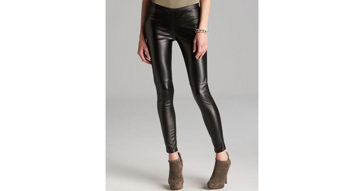 11fd30470497d1 MICHAEL Michael Kors Stretch Faux Leather Leggings in Black - Lyst