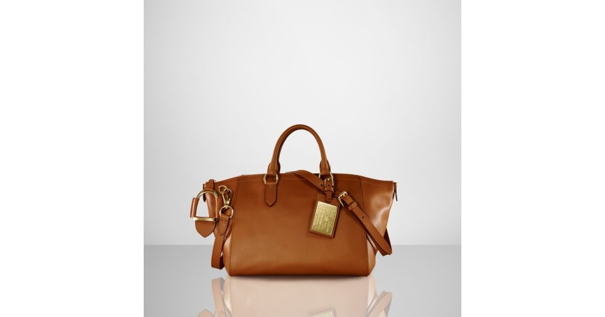 209384596bdf Lyst - Ralph Lauren Tumbled Calf Nomad Bag in Brown