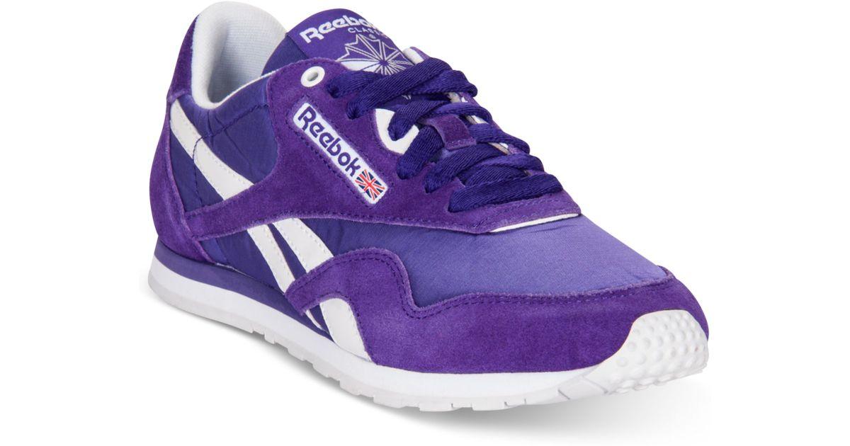 f42c912b5c5 Lyst - Reebok Classic Nylon Slim Monocolor Casual Sneakers in Purple