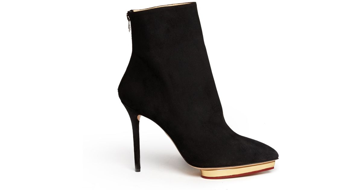Charlotte Olympia Patent Leather Ankle Boots