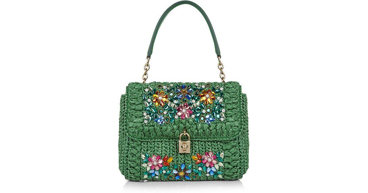 a8b07e980663 Dolce   Gabbana Miss Dolce Mediterranean Crystal Bag in Green - Lyst